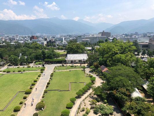 Burg Matsumoto - Ausblick