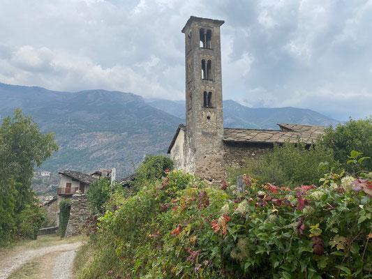 Spaziergang durch Susa im Piemont