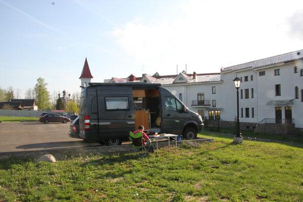 Hotelparkplatz in Uglitsch (2013)