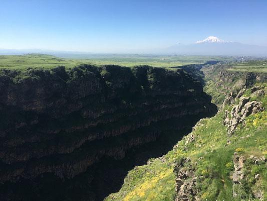 Schlucht nahe des Klosters Saghmosavank