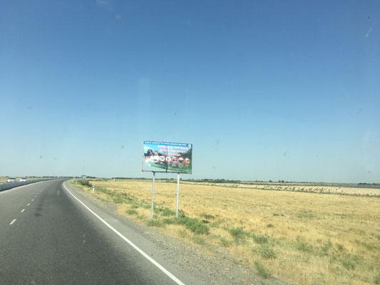 Das einzige Schild mit Angabe eines Tempolimits auf 80km/h, sah allerdings  eher nach Werbung aus.