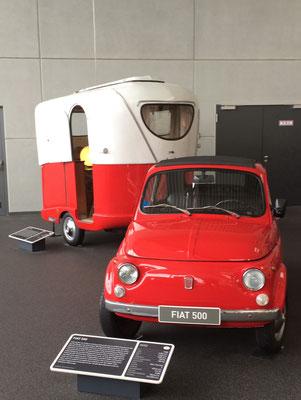 Fiat 500 mit Laika 500 von 1964