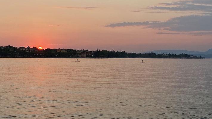 Sonnenuntergang in Peschiera