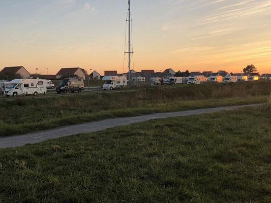 Wohnmobilstellplatz von Le Tréport