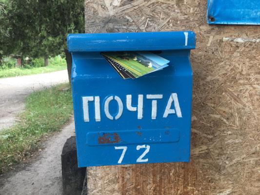 Mal gucken ob die  Postkarten ankommen