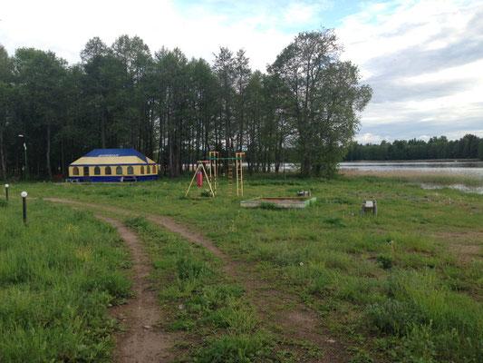 Im Sommer gibt es im Zelt bestimmt lecker Schaschlik