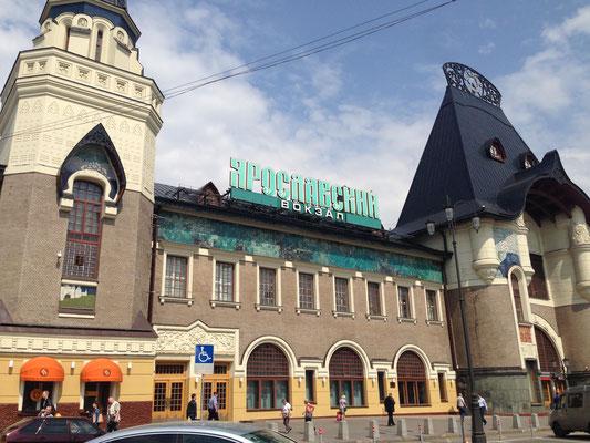 Bahn fahren in Moskau - Jaroslawler Bahnhof
