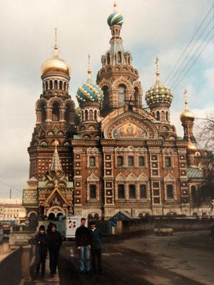 Die Blutskirche in Sankt Petersburg - erster Eindruck 1995