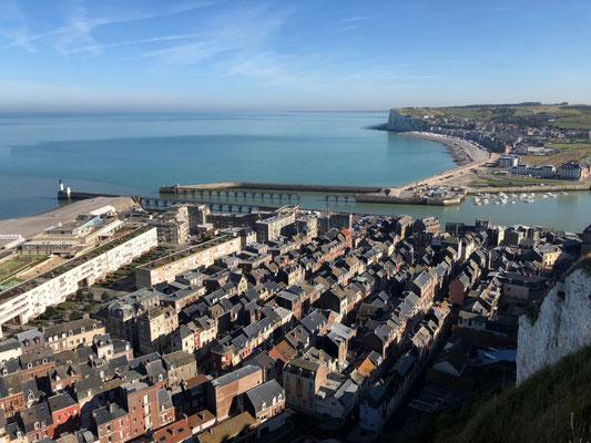 Blick von oben auf Le Tréport