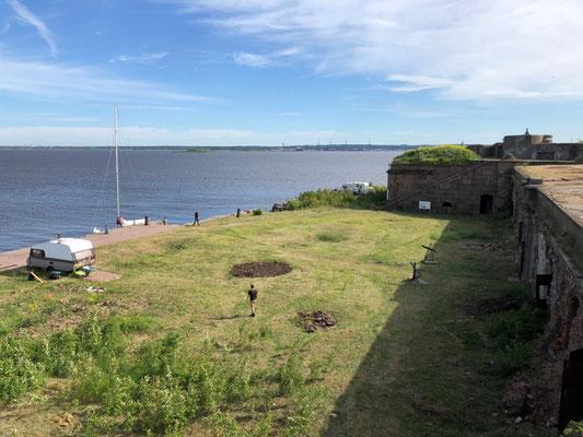 Bootsfahrt zum Fort Milutin (2018)