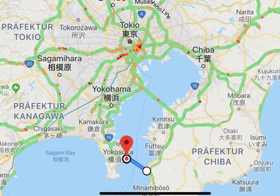 Überfahrt von Kurihama nach Kayana