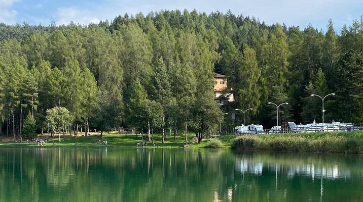 Wohnmobilstellplatz am Lago di Coredo