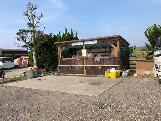 Kujukuri Auto Camping - Mülltrennung wird hier großgeschrieben