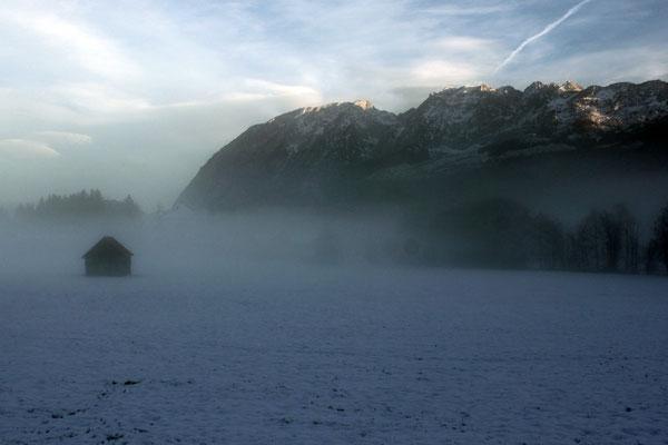 Rings um die Kraglhittn zieht, sobald die Sonne weg ist, gerne mal dichter Nebel auf