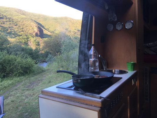 Übernachtungsplatz im Nationalpark Ile-Alatau bei Turgen