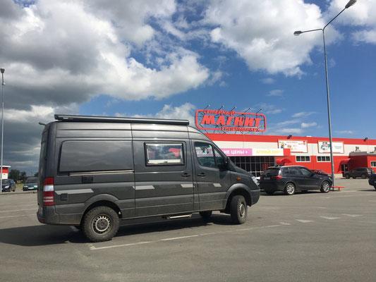 Juschnouralsk - erst mal einkaufen