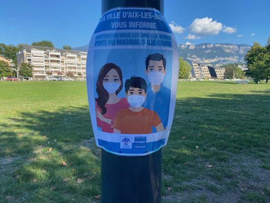 Maskenpflicht in Aix-les-Bains