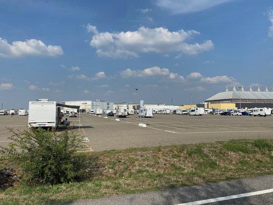 Parkplatz vom Salone del Camper in Parma