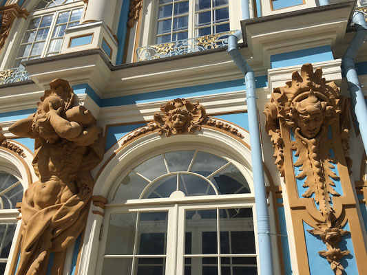 Besuch des Katharinenpalasts in Puschkin (2016)