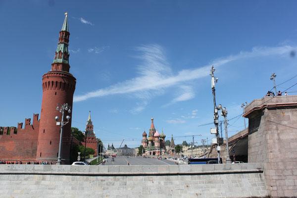 Bahn fahren in Moskau - toller Ausblick