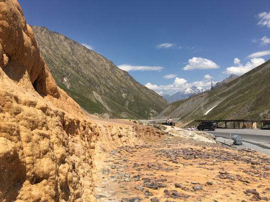 Mineralquelle kurz hinter der Passhöhe