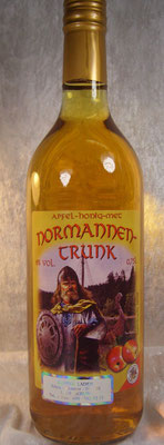 Normannentrunk, Apfel-Honig-Met, 6 % süffig,aber nicht zu süß!