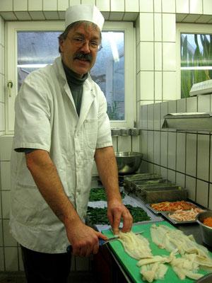 Herstellen von Fischpasteten