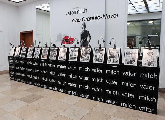 Ausstellung VATERMILCH, Literaturhaus Stuttgart, Berthold Leibingerstiftung; 3-EFF 2