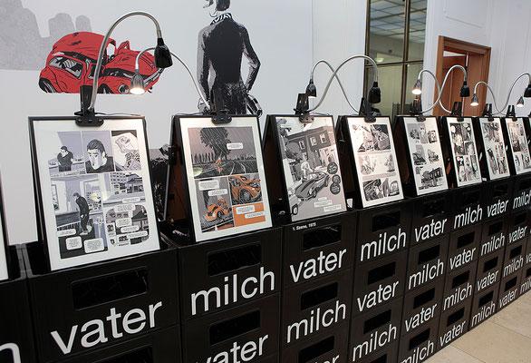 Ausstellung VATERMILCH, Literaturhaus Stuttgart, Berthold Leibingerstiftung; 3-EFF 3