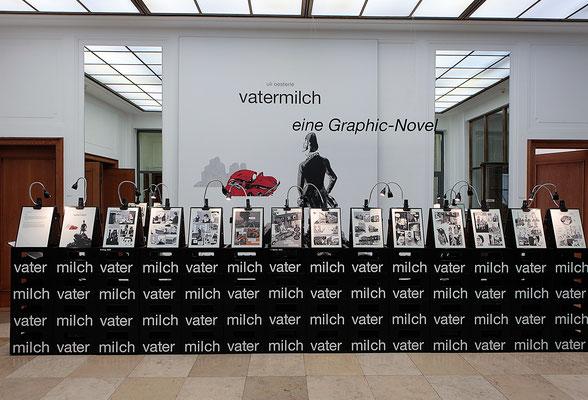 Ausstellung VATERMILCH, Literaturhaus Stuttgart, Berthold Leibingerstiftung; 3-EFF 1