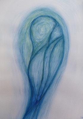 Aquarell von Quellwesen - Thomas Frei