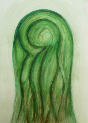Aquarell von Baumwesen - Thomas Frei