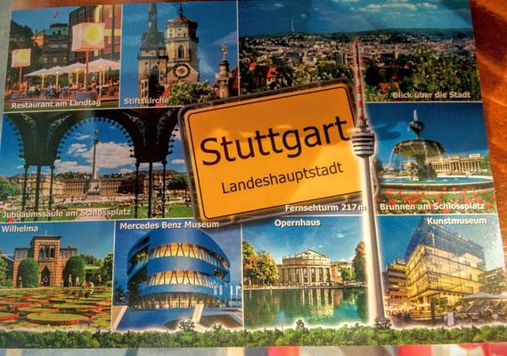 Postkarte von Stuttgart