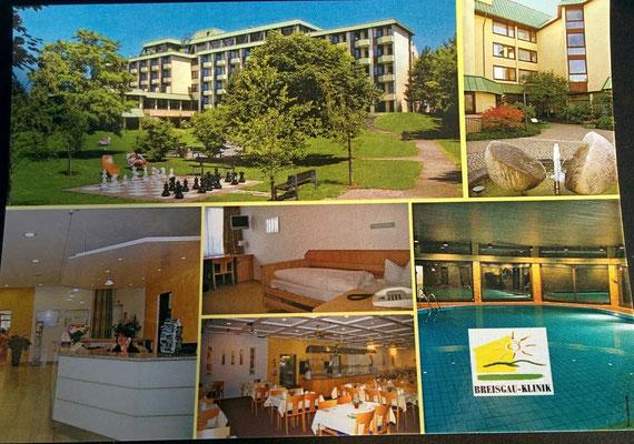 """Postkarte von """"Breisgau-Klinik"""" in Bad Krozingen"""