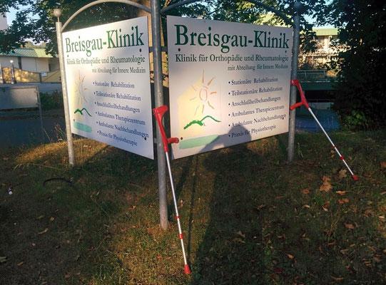 Mein Fussweg von der Breisgau-Klink zum Bahnhof