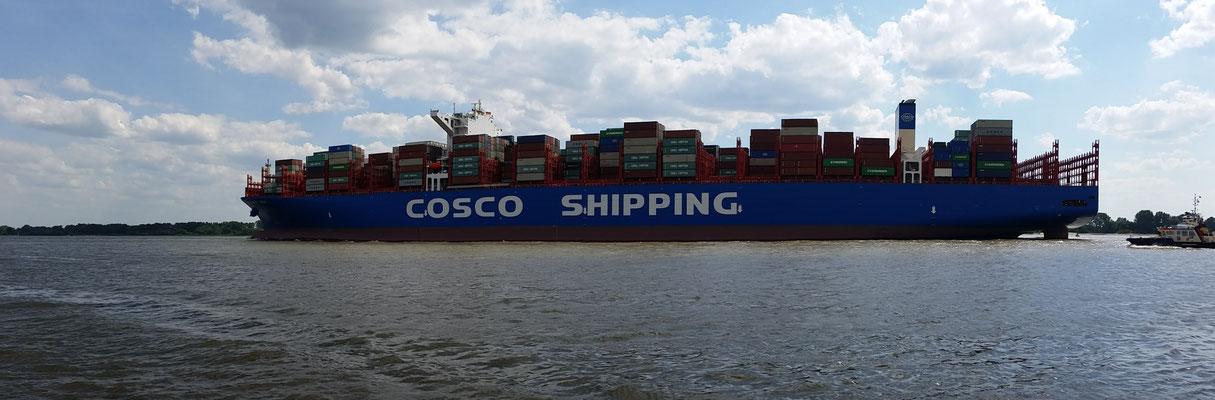 Erstanlauf der Cosco Shipping Taurus in Hamburg ♥