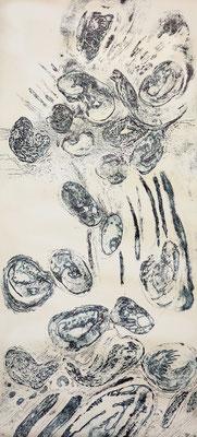 Ursuppe , Ätzradierung, 19,5 x 49,5 cm (Plattenformat)