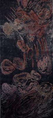 Ursuppe, Ätzradierung, 19,5 x 49,5 cm (Plattenformat), Farbvariation, (Unikat)