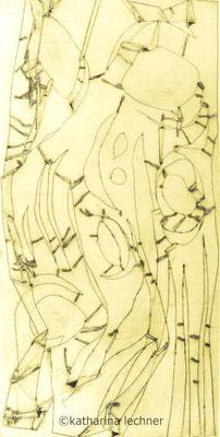 Ohne Titel, Hochdruck, 40 x 80 cm (Plattenformat), 1. Zustand, Unikat, 2017