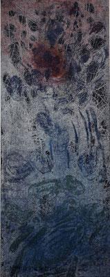 """""""In der Ursuppe regt sich was"""", Ätzradierung, Mezzotinto, 19,5 x 49,5 cm (Plattenformat), (Unikat)"""