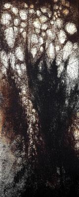 Menschwerdung_2, Ätzradierung, Mezzotinto, 19,5 x 49,5 cm (Plattenformat), (Unikat)