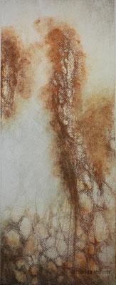 Figur, Ätzradierung, Mezzotinto, 19,5 x 49,5 cm (Plattenformat), (Unikat)