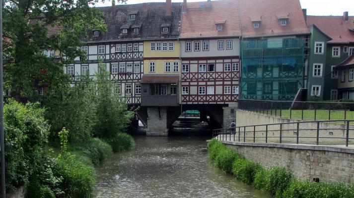 Donnerstag: Krämerbrücke in Erfurt