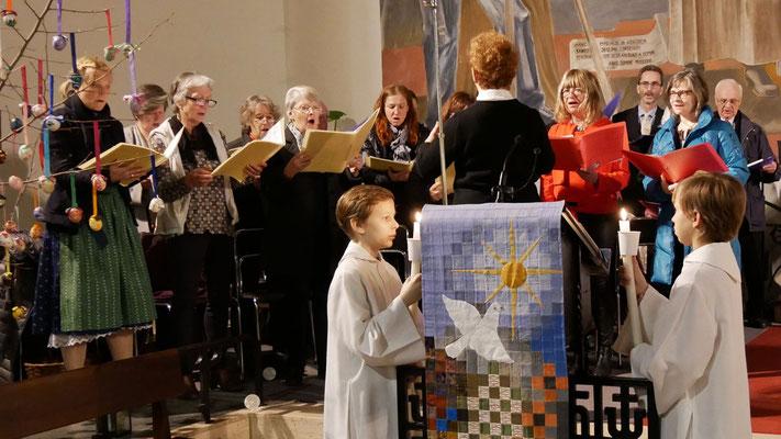 Auferstehungsfeier am Ostersonntag  um 5:00 Früh, Kirchenchor zum Gloria