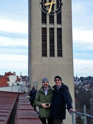 19.März: Rainer Hinterleitner + Michael Wiehart vom VVR bei einer Begutachtung am Gerüst