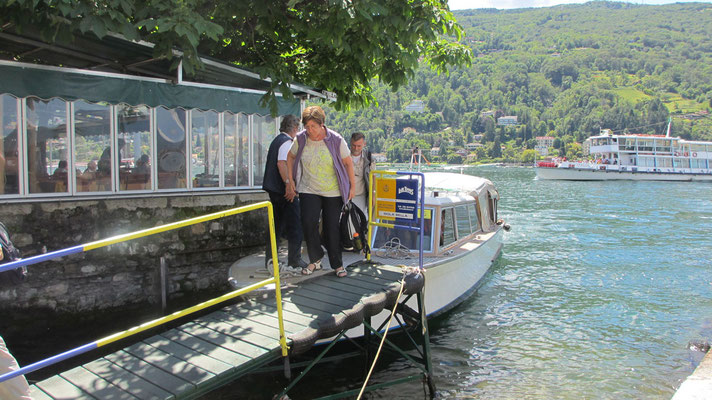 Dienstag: Abfahrt von der Isola Pescatori im Lago Maggiore