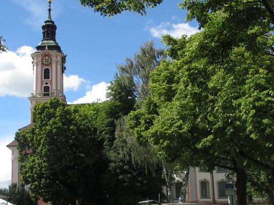 Samstag: Wallfahrtskirche in Birnau.