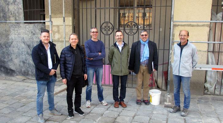 15.April: Treffen mit Experten vom Bundesdenkmalamt, der Baufirma und der Erzdiözese.