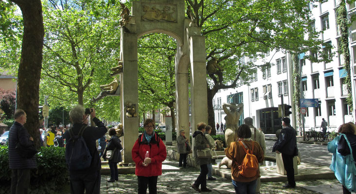 Freitag: Der Laubebrunnen in Konstanz.