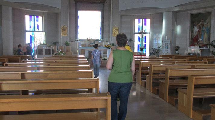 Samstag: Verona, Wallfahrtskirche Kirche Santuario Nostra Signora di Lourdes